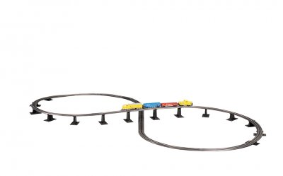 Steel Alloy E-Z TRACK® Over-Under Figure 8 Track Pack (HO Scale)