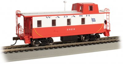 Streamlined Caboose with Offset Cupola - Wabash #2824