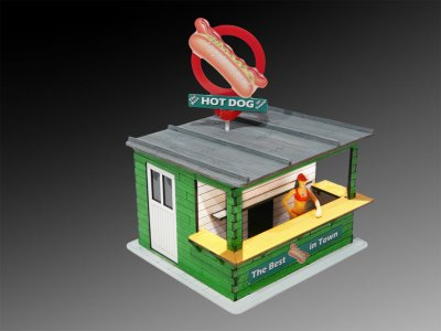 Hot Dog Stand w/Light & Rotating Banner Kit