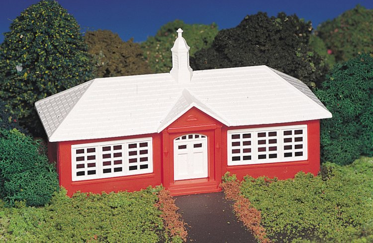 School House (HO Scale) - Click Image to Close