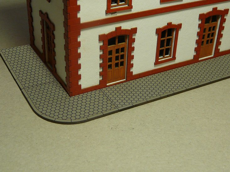 Hexagon Sidewalk (HO Scale) - Click Image to Close