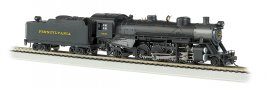 PRR #9630 Light 2-8-2 w/Med. Tender - DCC Sound Value (HO Scale)