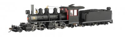 Black Steel Cab with White Stripes - Baldwin 2-4-4-2 - DCC