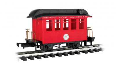 Coach - Short Line Railroad - Red With Black Roof