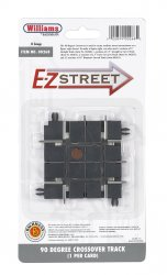 E-Z Street 90 Degree Crossover Track (1/Card)