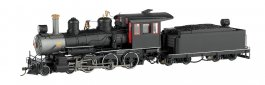 Black, Unlettered W/Steel Cab W/ Painted Trim - 4-6-0 - DCC
