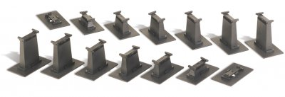 14-Piece Graduated Pier Set (HO Scale)