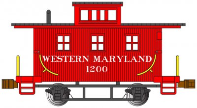 Western Maryland® #1200 - Old-Time Caboose (N scale)