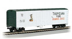 50' Steel Reefer - Tropicana - Wht & Grn, 2 car set