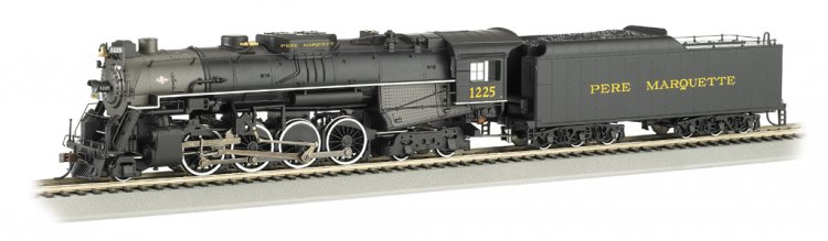 PERE MARQUETTE #1225 - DCC Sound Value (HO 2-8-4 Berkshire) - Click Image to Close