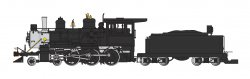 Painted, Unlettered - Black - 4-6-0 (DCC & SOUND READY)
