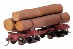 Skeleton Log Car – Resin Logs (3/Box) (WF)