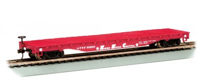 Santa Fe - 52' Flat Car (HO Scale)