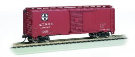 Santa Fe #136287 - Steam Era 40' Box Car (HO Scale)