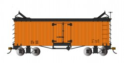 Orange with Black Roof and Ends - Reefer - Data Only