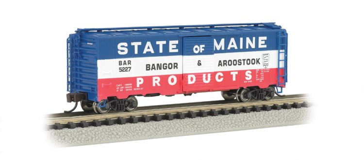 Bangor & Aroostook (Red, White & Blue) - AAR 40' Steel Box Car - Click Image to Close