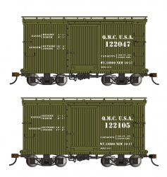18 ft. Box Car W/ Murphy Roof - QMC #122047 & 122105 - (2/box)