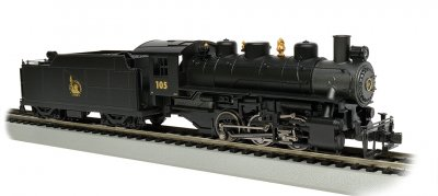 Jersey Central #105 - USRA 0-6-0 w/Short Haul Tender (HO Scale)