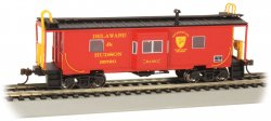 Delaware & Hudson - Bay-Window w/ Roof Walk Caboose (HO Scale)