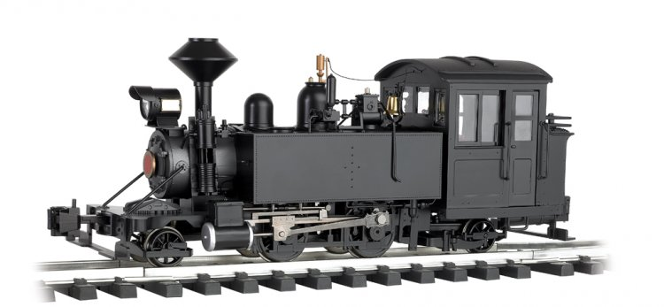 Unlettered - Black -2-4-2 Locomotive - Click Image to Close