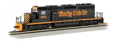Wheeling & Lake Erie #6352 - SD40-2 (HO Scale)