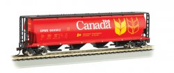 Canadian 4 Bay Cylindrical Grain Hopper - 4 Car Set