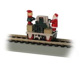 Gandy Dancer Operating Hand Car - Christmas (HO Scale)