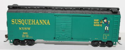 Box Car- Susquehanna ( HO Scale )