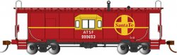 Sante Fe - Bay Window w/ Roof Walk Caboose (HO Scale)