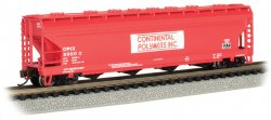 Continental Polymers #3000 - ACF 56' 4-Bay Center Flow Hopper