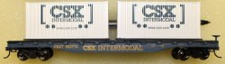 Flat Car - CSX Intermodal (HO Scale)