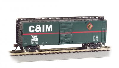 Chicago & Illinois Midland - 40' Box Car (HO Scale)