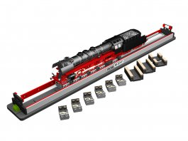 Rolling Road w/Rollers and Drive Wheel Cleaners (O Scale 3 Rail)