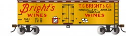 Bright's Wines - 40' Wood-side Refrig Box Car (HO Scale)