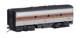 Erie Lackawanna (maroon & gray) - F7B - DCC