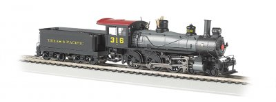 Texas & Pacific™ #316 - Baldwin 4-6-0 (HO Scale)