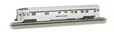 B&O® Silver w/ Blue stripe - 85 FT Observation w/ lighted int.