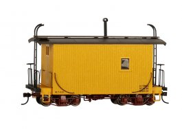 18 ft. Logging Caboose - Yellow, Data Only