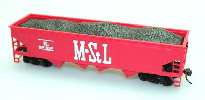 40' Quad Hopper - M. STL Coal (HO Scale)