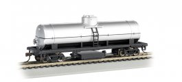 Unlettered- Silver - Track Cleaning Car Tank Car (HO Scale)