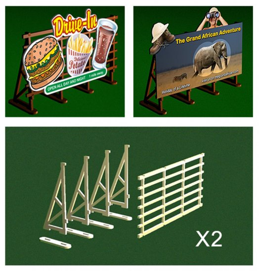 O Scale Billboard Kit - Click Image to Close