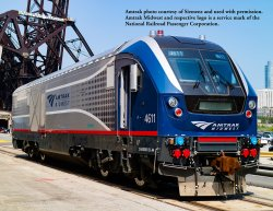 AMTRAK MIDWEST #4611 - CHARGER SC-44 - DCC WOWSOUND®