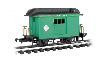 Baggage - Short Line Railroad - Green With Black Roof