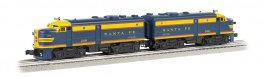 Santa Fe #208 - Blue/Yellow - O-27 Alco FA-2 Powered A / Dummy