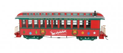 Christmas - Coach/Observation. w/Lighted Interior