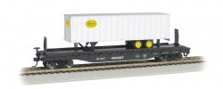 New York Central 52ft flat car w/ NYC® 35ft Trailer (HO Scale)