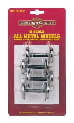 Standard Metal Wheel Set (4 per card) (Large Scale)