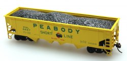 Peabody - 40' Quad Hopper w/o load (3 Car Set)