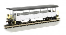 Painted Unlettered-Silver/Black - Open-Sided Excursion Car (HO)