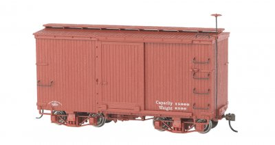 18 ft. Box Car - Oxide Red, Data Only (2 per box)